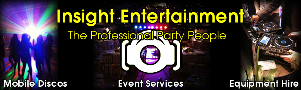 Insight Entetainment - wedding discos, party equipment hire and events in cheltenham, gloucester, solihull, west mindlands, birmingham and coventry